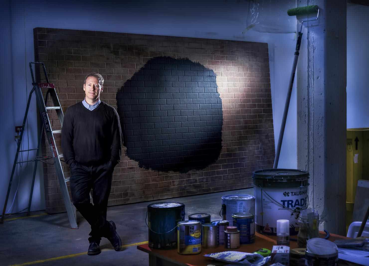 Artist, Callum Morton in his West Melbourne Studio.