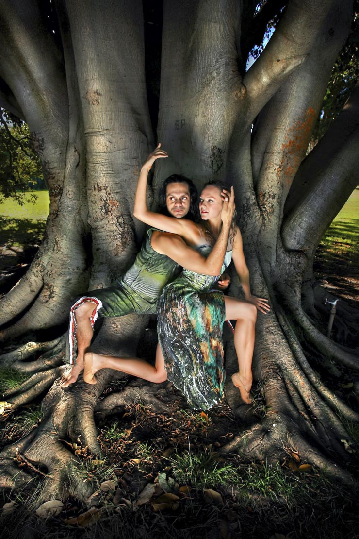 Annabel Bronner Reid from the Australian Ballet and Sidney Saltner from Bangarra indigenous dance comapny