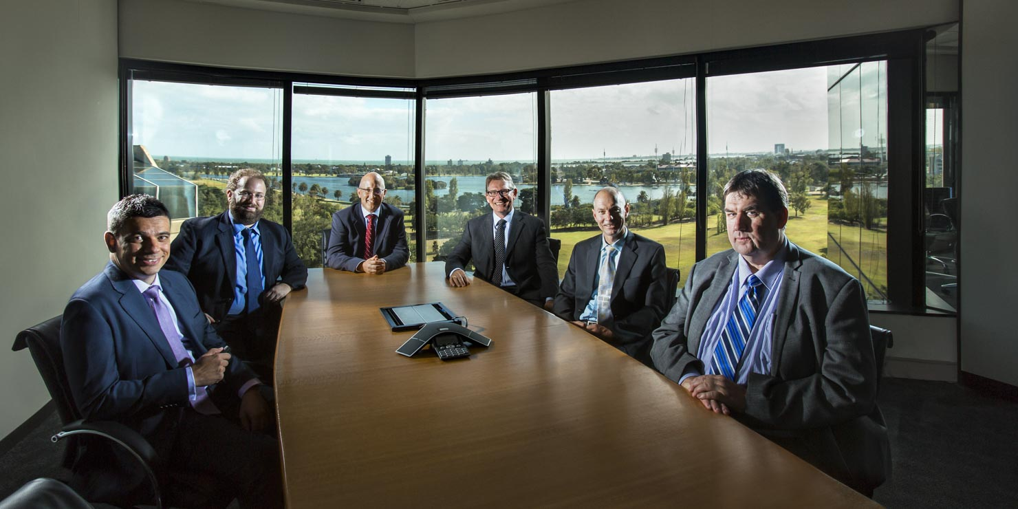 Boardroom group portrait