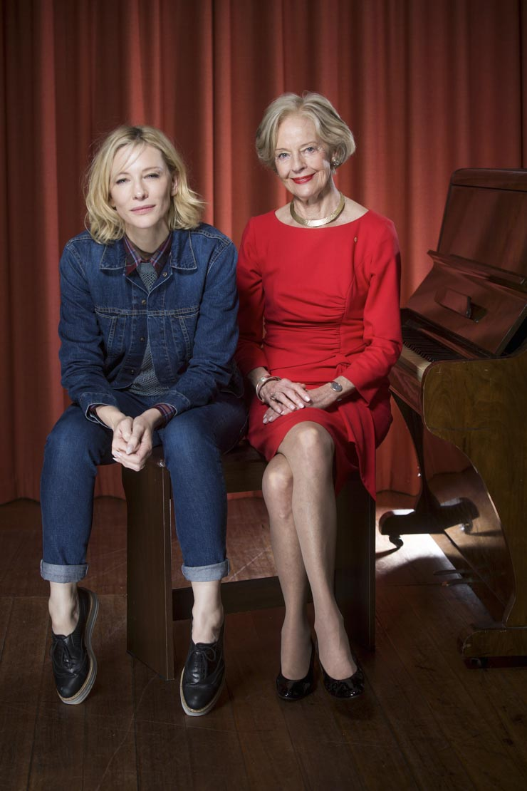 Cate Blanchett and Quentin Bryce
