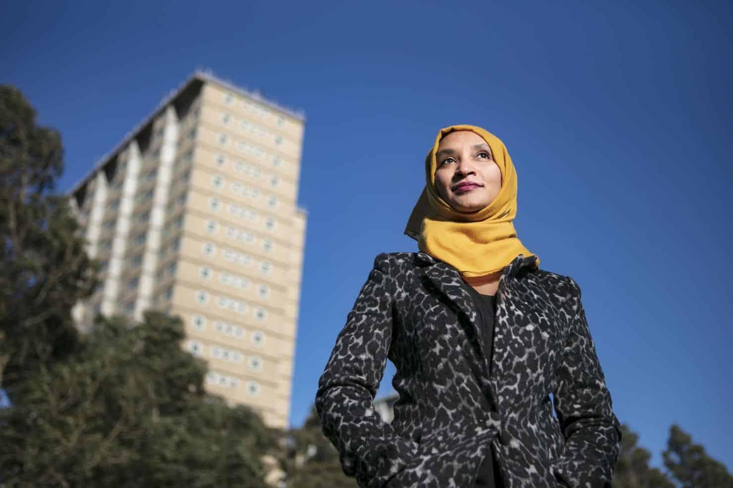 Mulsim woman at housing commission flats