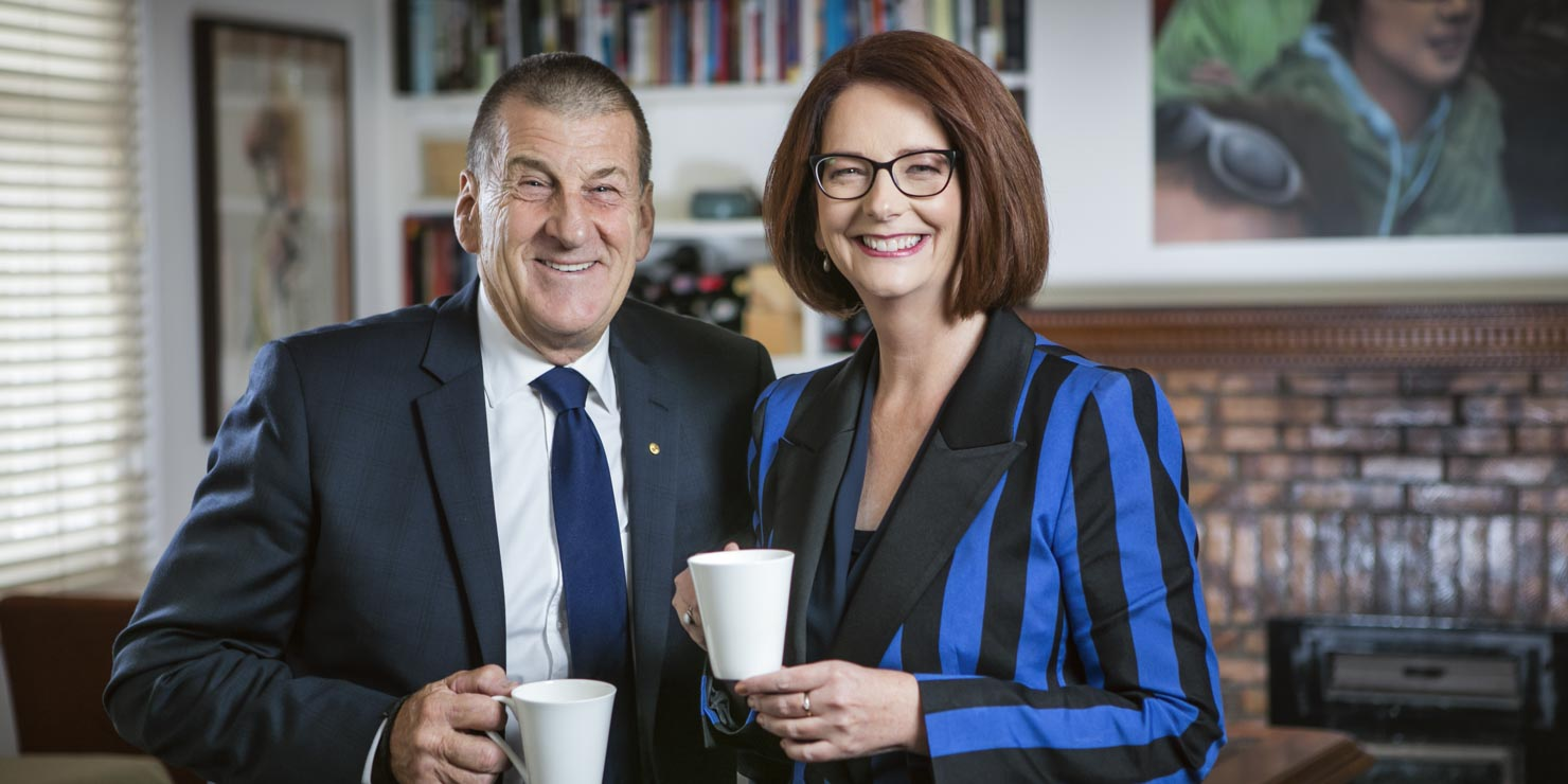Corporate photography, Jeff Kennet & Julia Gillard