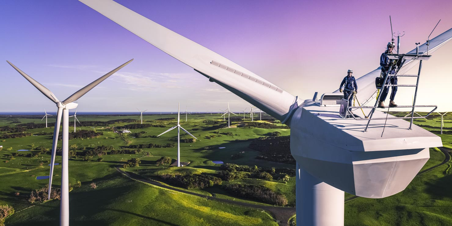 Industrial Photography, Wind Turbine by Drone
