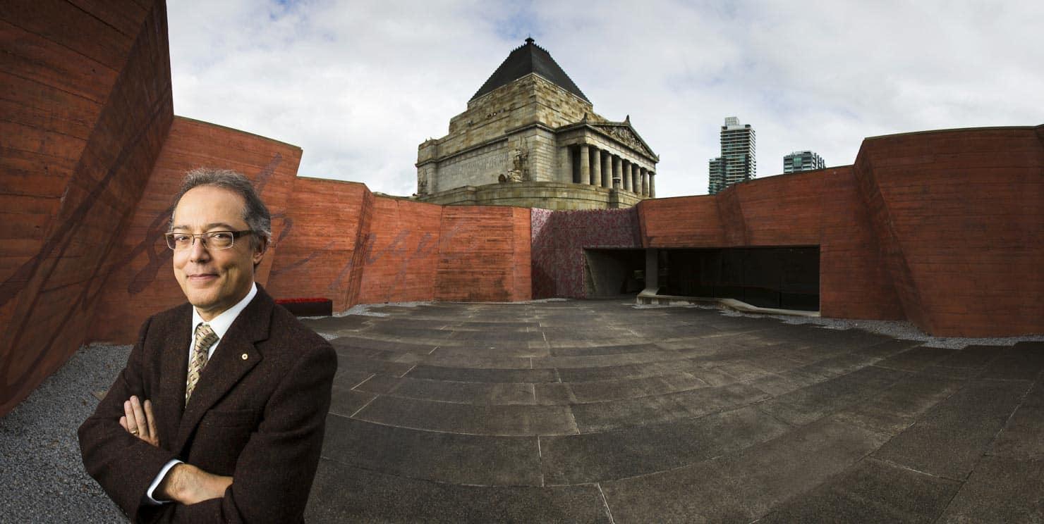 Portrait at Melbourne Shrine of Remembrance