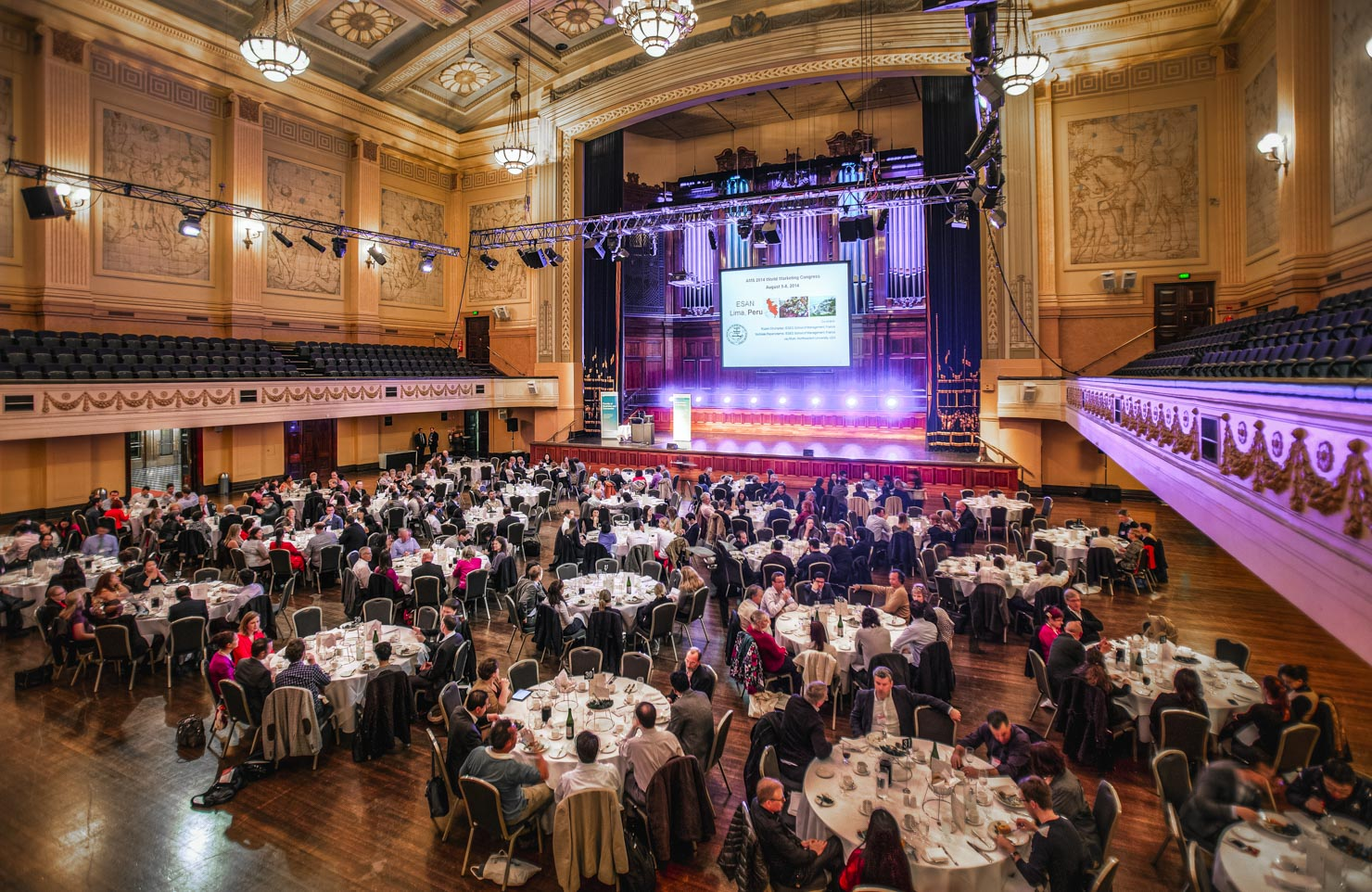 Gala event at Melbourne Town Hall