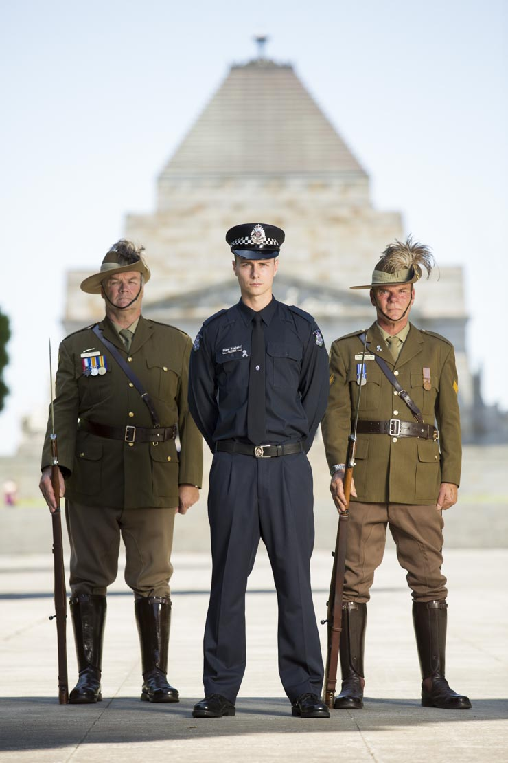 Policeman at Melbourne Shrine