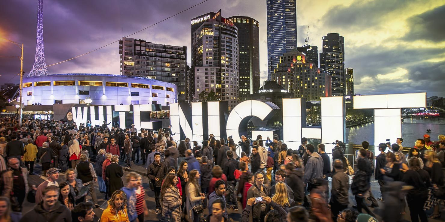 Public Event Photography, White Night Melbourne