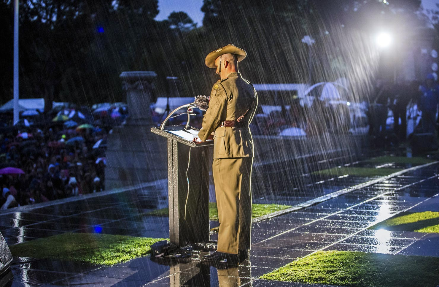 ANZAC Day Speeches in the rain