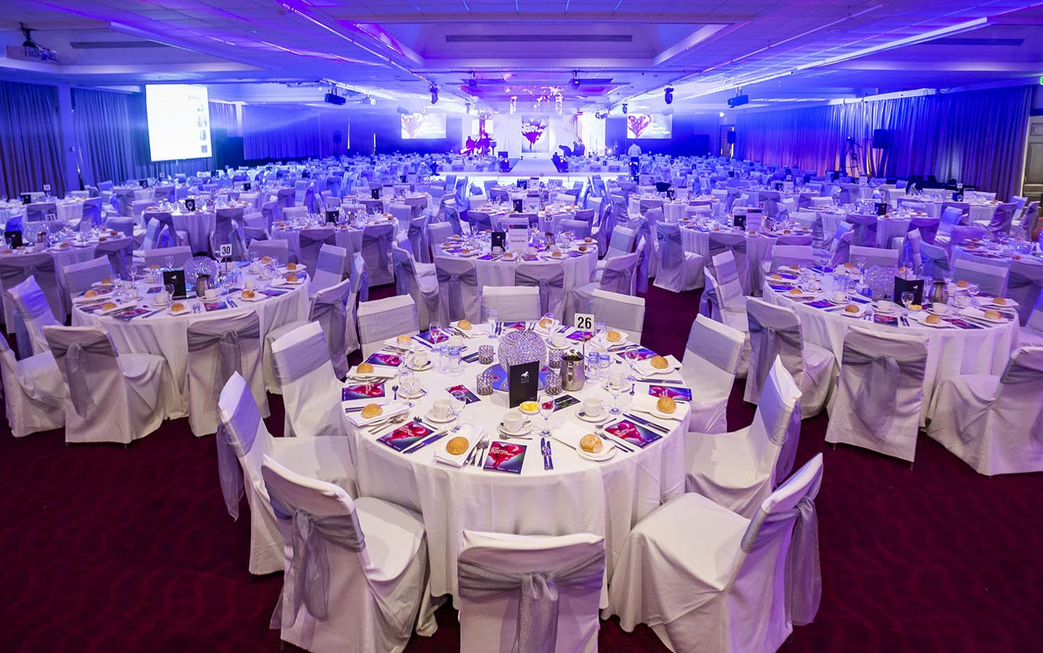 Tables set for Gala event