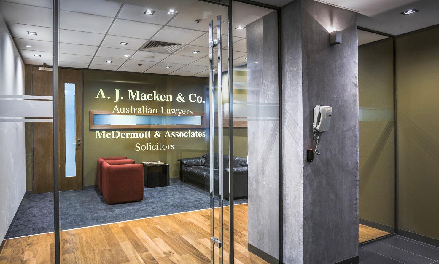 AJ Macken Co Lawyers Chambers in Melbourne