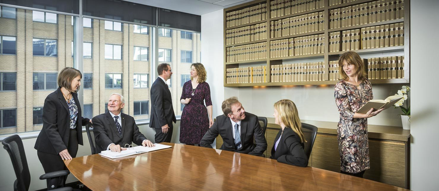 The Boardroom at the offices of Melbourne legal firm AJ Macken Co