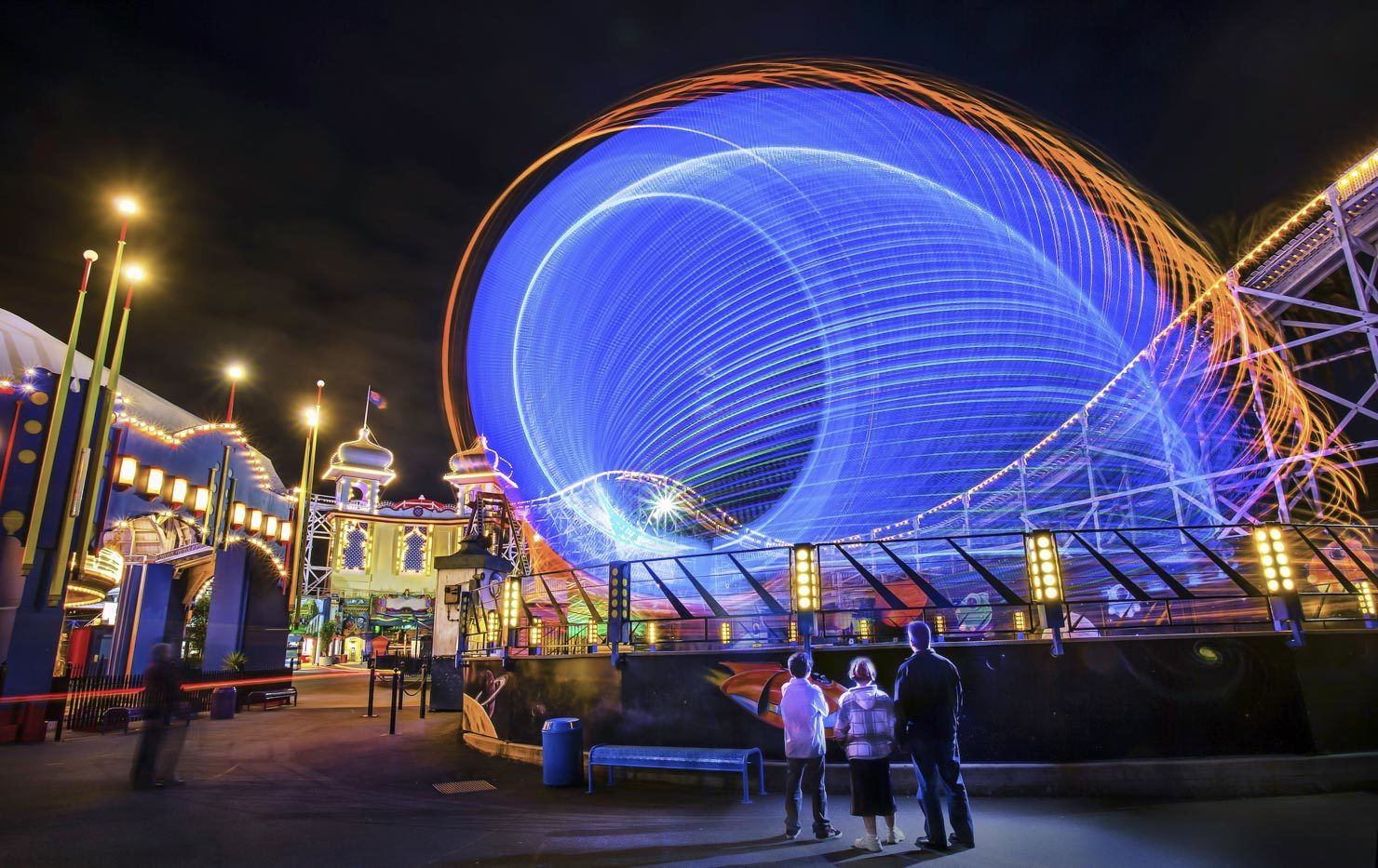 Luna Park at night, twilight