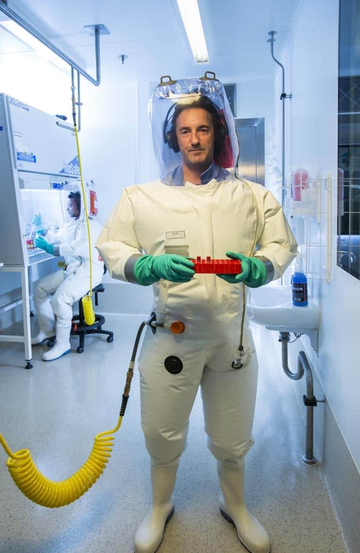 Melbourne University bio-scientist in a laboratory