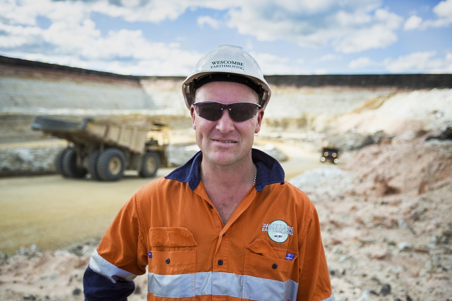 A worker at Boral Quarry Sand Mine Bacchus Marsh