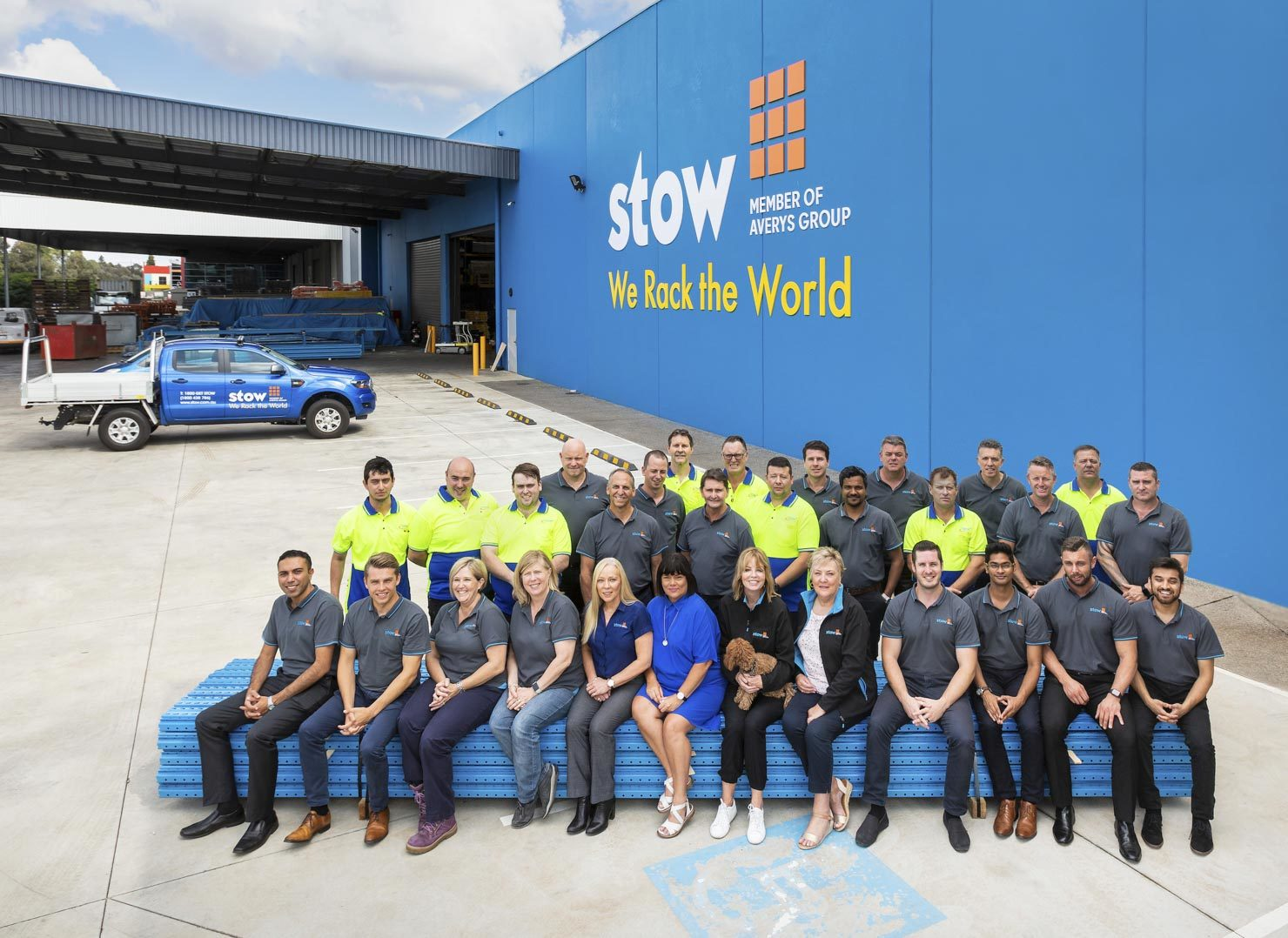 Factory staff group photo